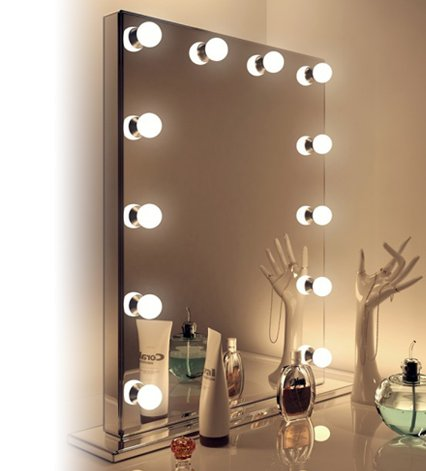 Makeup table with mirror and lights leddrssil led for Miroir lumineux